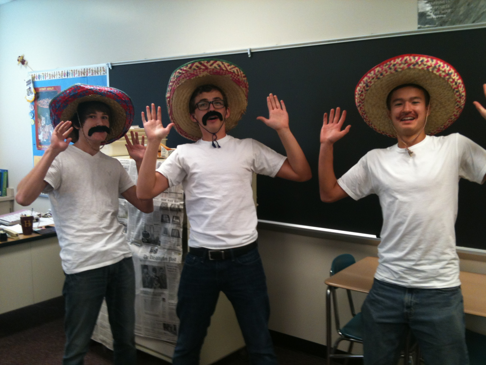 twin day outfit   L to R  Juniors Eric Smith  Tim Baker and Ben Whong  were the. The Best of Twin Day