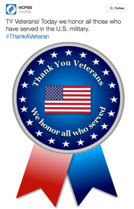 HCPSS thanks veterans countywide. Credit: @HCPSS on Twitter